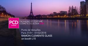 Packaging of Perfume Cosmetics & Design. Paris 2018. Ramon Clemente Glass.